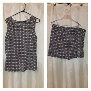 Ann Taylor Top And Shorts Set Size XL